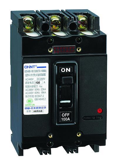 TG-100B/3300(转动手柄) 20A,DZ948系列塑料外壳式断路器,CHINT正泰电器