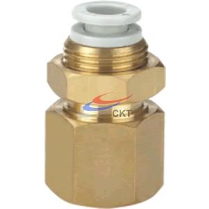 C-KQ2LF08-02,隔板安装直通螺纹内接头,快换接头 - C-KQ系列(普通型)