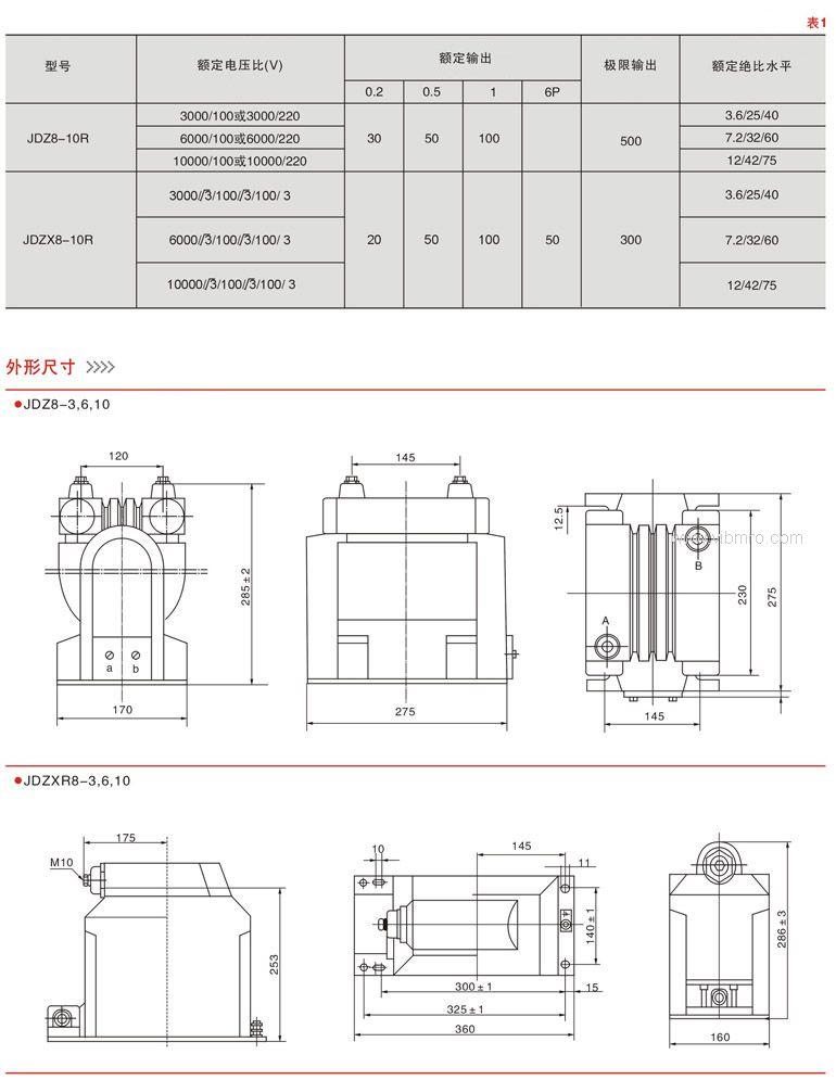 【jdz8-10r型电压互感器】价格