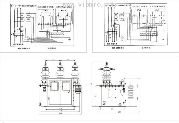 jls-6,10,35 高压电力计量箱