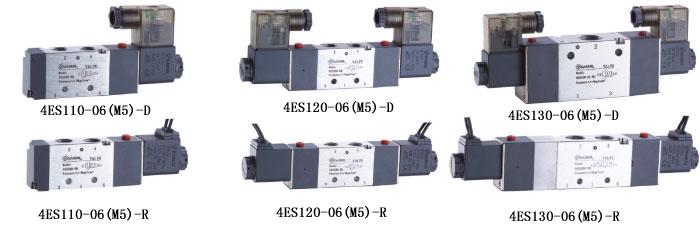 4es110-m5,4es1系列二位五通/三位五通电磁阀,easun亿日气动方向控制图片